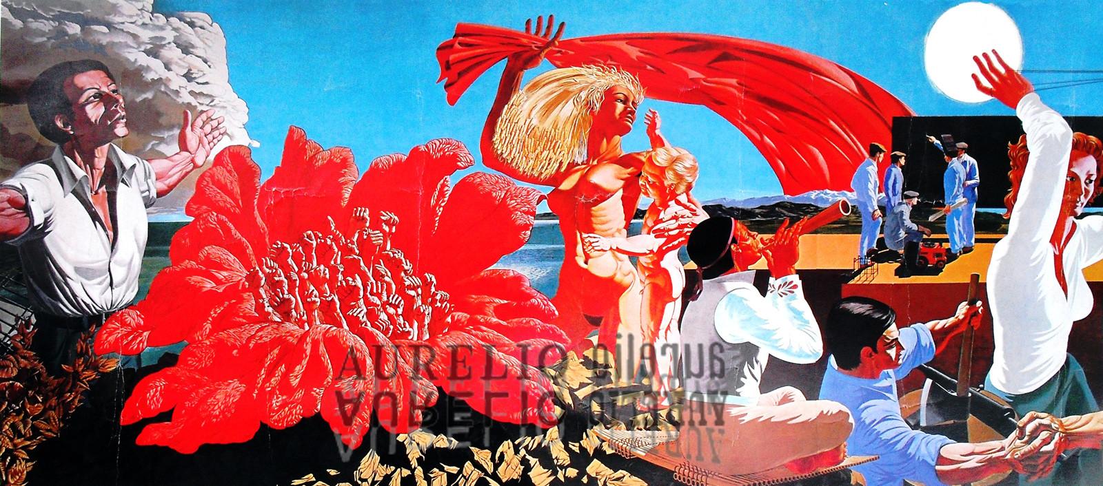 Aurelio C. - Murale Valenza particolare - 1972