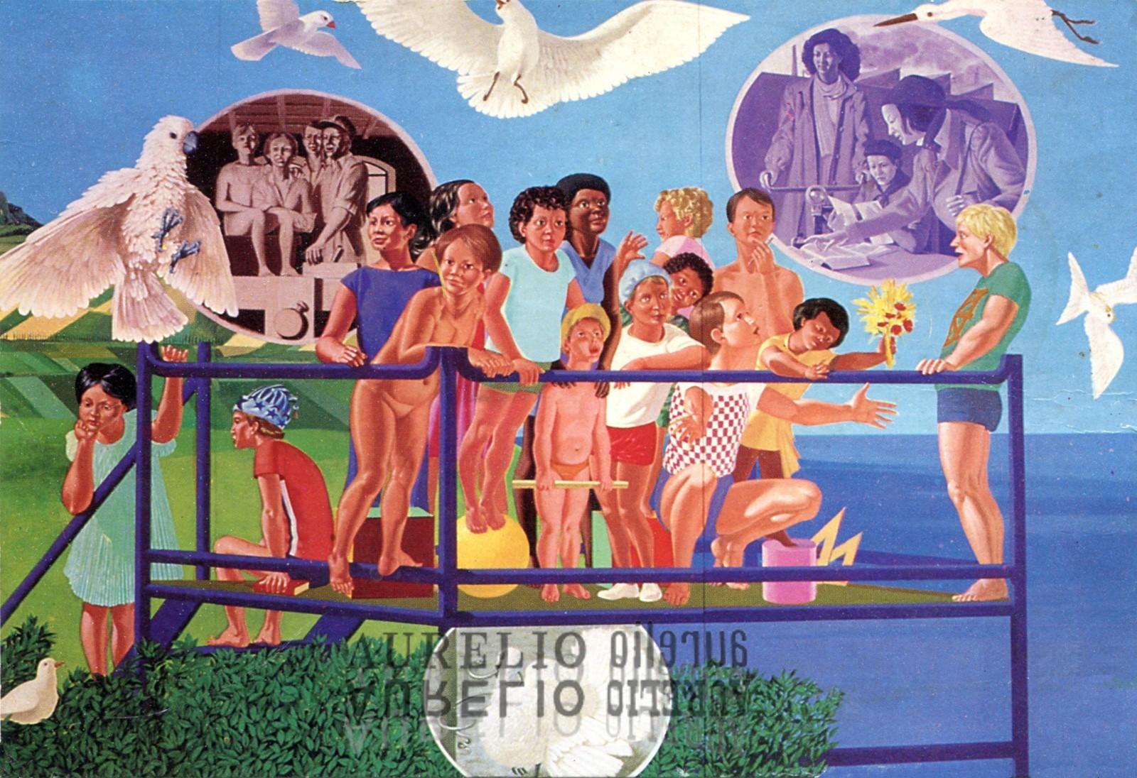 Aurelio C. - Murale Carpi particolare - 1981