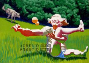 Aurelio C. - Footing a Central park - 1982