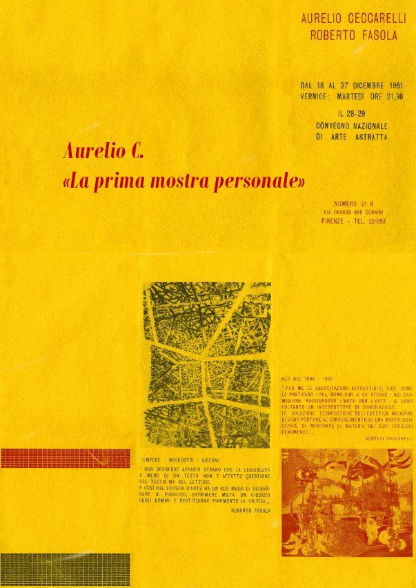 Aurelio C. - La prima mostra personale